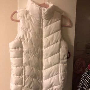NWT SO white puffer vest